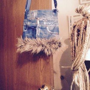 handmade jean handbag